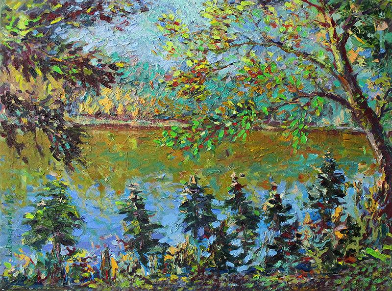 Ežeras rudenį