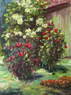 Rožės sode
